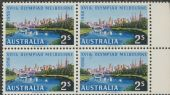 SG 293 ACSC 335f. 2s Olympic Games, Melbourne 1954 block of 4 (AE1/183)